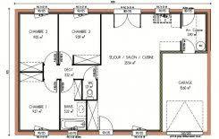 maison 3 chambres plan et photos maison 3 chambres de 84 m