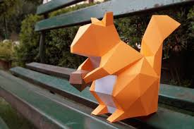 diy squirrel printable 3d papercrafts by paper amaze