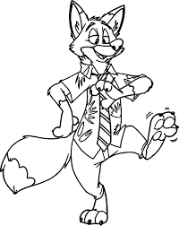 nick wilde zootopia coloring pages wecoloringpage