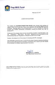 Certification Letter From Employer Corporate Governance Seal Tpb