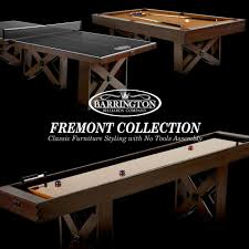barrington 9 solid wood shuffleboard table barrington 9 ft fremont collection shuffleboard table with no tools
