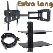 tv wall mount swing out floating shelf for tv components foter