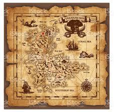 vector pirate treasure map stock vector art 520553582 istock