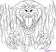 coloring pages skulls flames