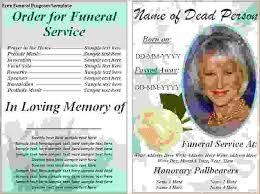 funeral programs exles 6 funeral programs exlesagenda template sle agenda