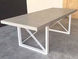 powder coated aluminum outdoor dining table our latest design the metro dining table polished concrete top w
