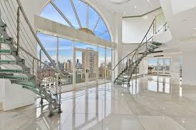 Interior Stairs Design In Duplex Apartments Downtown Brooklyn Glass Duplex Penthouse Stunner 5 Br For Sale