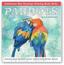 parrots coloring book retrocoloring