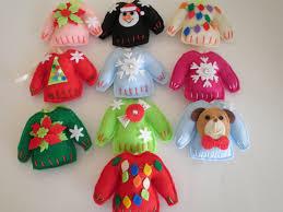 cutest ever handmade felt ugly christmas sweater ornaments