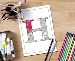 armenian alphabet coloring pages zentangle alphabet coloring pages for adults letter h henna
