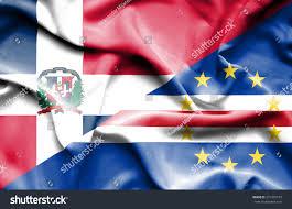 Flag Cape Waving Flag Cape Verde Dominican Republc Stock Illustration