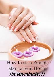 to do a 10 minute at home express french manicure