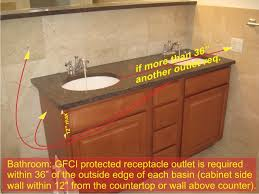 bathroom bathroom receptacle on bathroom and gfci receptacles
