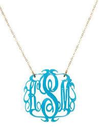 monogram necklace acrylic script acrylic monogram necklace by moon lola prep obsessed