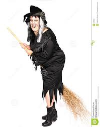 woman dressed as an ugly witch royalty free stock photography