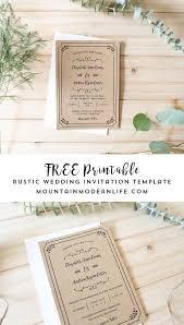 wedding invite template free printable wedding invitation template