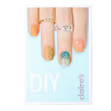 diy glitter nail art set book claire u0027s