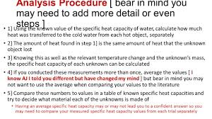 ap physics heat capacity lab objective the objective of this lab