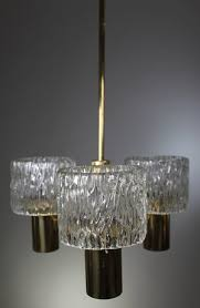 1950s Chandelier Swedish Orrefors Three Arm Chandelier 1950s U2014 Moona
