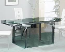 Modern Glass Kitchen Table Extension Dining Table W Glass Top Ol T307