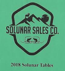 Solunar Tables Fishing Solunar Tables John Alden Knight U0027s Original