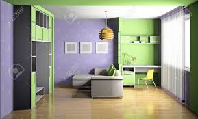 modern interior of a children u0027s room 3d stock photo picture and
