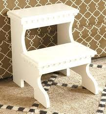 stools white 2 step wooden folding stool white step stool ikea