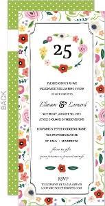 25 wedding anniversary cheap 25th anniversary invitations invite shop