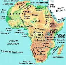 mapa de africa mapa de africa mapa físico geográfico político turístico y