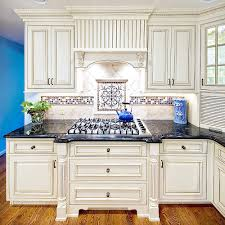 Blue Tile Kitchen Backsplash Kitchen Kitchen Stone Backsplash With White Cabinets Eiforces