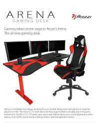 gaming desks uk new arozzi arena gaming desk available play3r