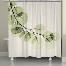Leaf Design Curtains Green X Ray Of Eucalyptus Leaves Shower Curtain U2013 Laural Home