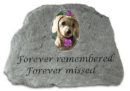 pet memorial stones garden pet memorial forever remembered photo insert