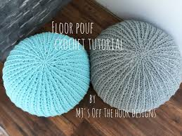 learn how to make a fun crocheted floor pouf for your home office