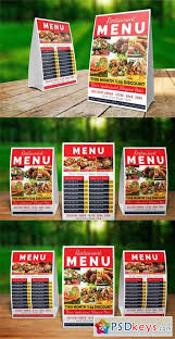 restaurant table tent template free download photoshop vector