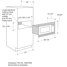 Standard Built In Microwave Dimensions Bestmicrowave Throughout