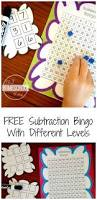 free subtraction bingo math game with different levels for first