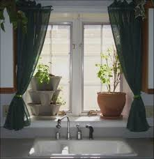 kitchen awesome kitchen window curtain ideas dark green simple