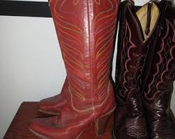 womens brown cowboy boots size 9 cowboy boots size 9 etsy