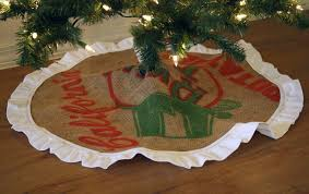 burlap sack tree skirt