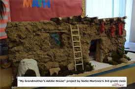 adobe house students build authentic mini adobe house valley daily post