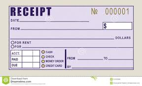 Receipt Of Rent Payment Template Receipt Of Rent Payment Financial Receipt Stock Vector Image