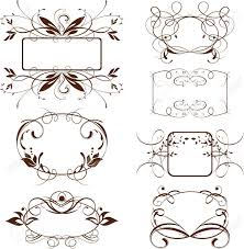 Luxurious Decorative Element 573 892 Decorative Frames Stock Illustrations Cliparts And