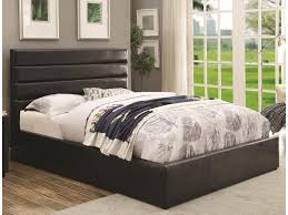 Lift And Storage Beds Coaster Riverbend Queen Black Leatherette Upholstered Bed With