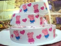 peppa pig ribbon peppa pig ribbon 7 8 wide new uk seller free p p ebay