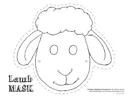 sheep mask template buscar google art toddlers