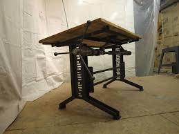 Industrial Standing Desk by Custom Industrial Drafting Desk By Camposironworks Custommade Com
