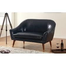 Bonded Leather Loveseat Mid Century Modern Bonded Leather Living Room Loveseat Walmart Com
