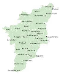 tamil nadu map list of districts in tamil nadu