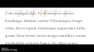 scanning latin poetry youtube